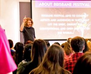 Brisbane Festival volunteer coordinator Zac Reimers