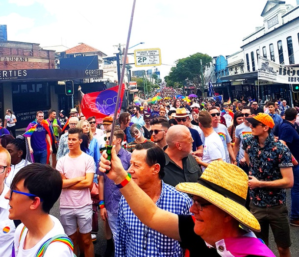 Brisbane Pride Marchers 2018