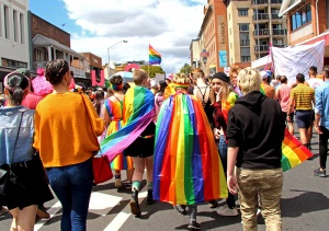Brisbane Pride 2018 marchers