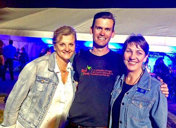 Karen Williams, Luke Kinman and Lynne Sturgess at RedFest