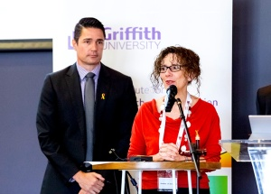 Neumann and O'Donovan at the World Suicide Prevention Day Community Forum
