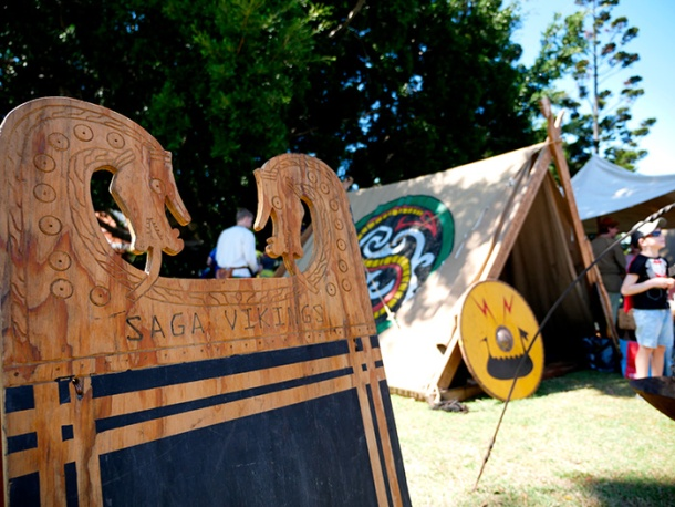 Saga Viking tent at Scandinavian Festival