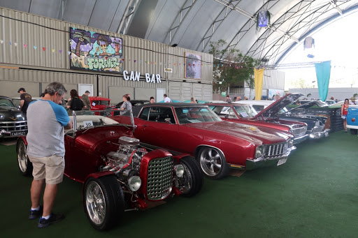 A range of cars on show in the Paddock. Photo: Erin Semmler