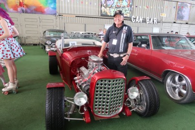 John Moylan and his 1929 A Model Ford Roadster. Photo: Erin Semmler