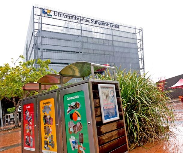 Waste facilities at the University of the Sunshine Coast