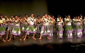 UQSPIA performing a cultural dance from Kiribati
