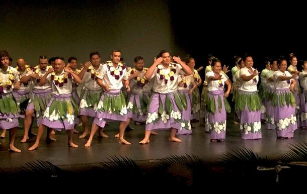 UQSPIA performing a cultural dance from Kiribati