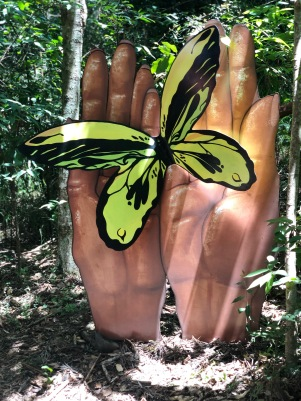 The famous butterfly walk at Woodford Folk Festival Photo by Connie Savage