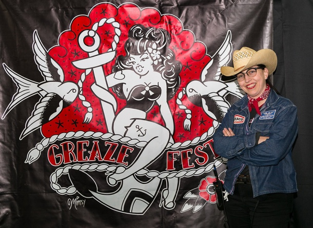 Greazefest organiser Lori Lee