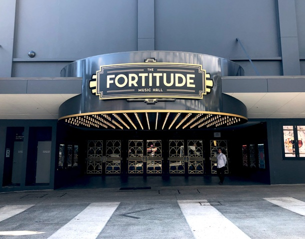 The Fortitude Music Hall's front entrance
