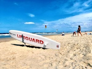 Lifeguards want beachgoers to play it safe