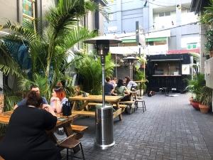 The Brightside's beer garden