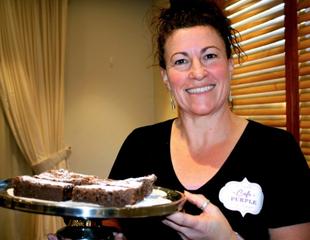 Café Purple owner Danie Costolloe-Ross