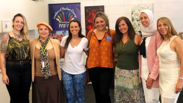 Artists at the International Women's Arts and Crafts exhibition