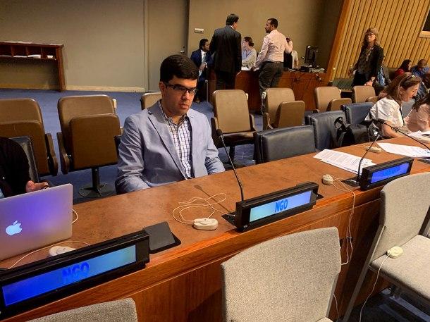 Santiago Velasquez at the UN