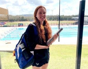 Synchronised swimmer Rachel Presser