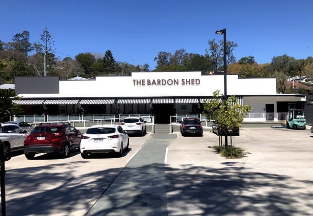 The Bardon Shed carpark