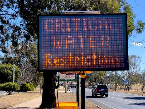 Water restrictions in Warwick