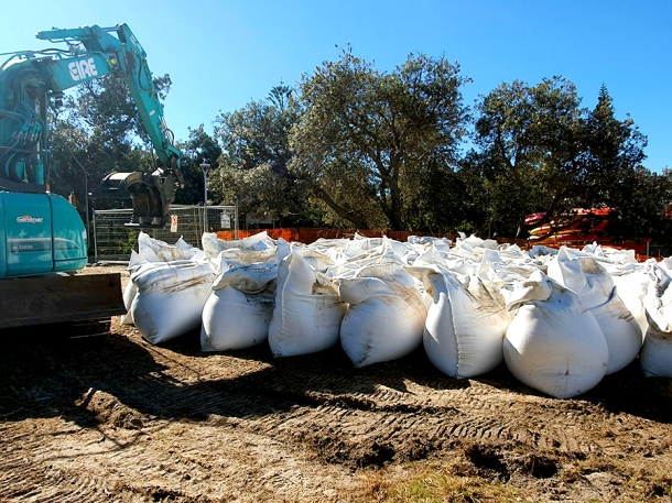 Sandbags for Clarkes Beach
