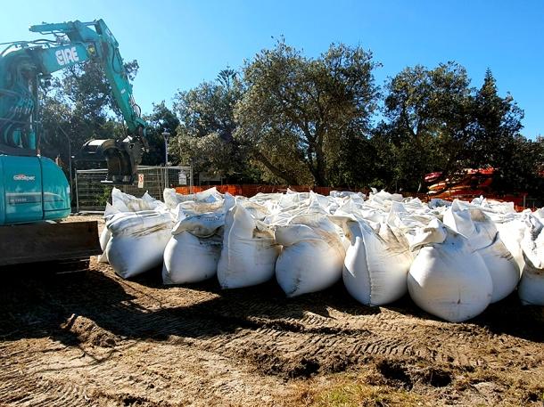 Sandbags for Clarkes Beach