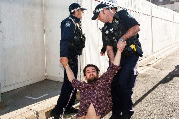 Extinction Rebellion action in Brisbane