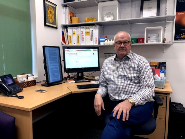 Griffith University student counsellor and psychologist Jonathan Munro
