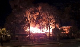 Southport State High School on fire