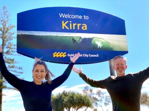Currumbin MP Laura Gerber and Kirra local Piers Booth