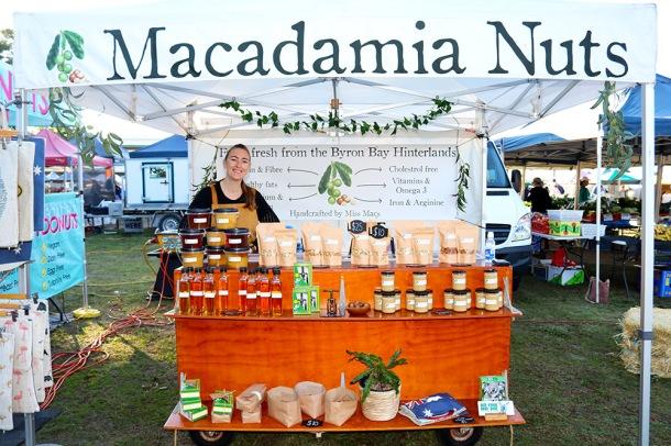 Macadamia Nut market stall