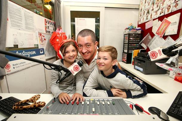 Radio Lollipop volunteers in studio