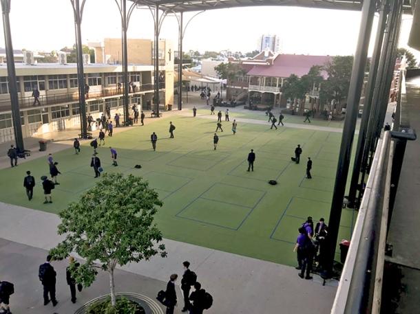 St Laurence's College quadrangle