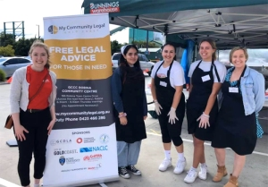 My Community Legal Bunnings sausage sizzle