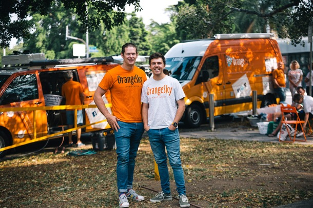 Orange Sky co-founders Lucas Patchett and Nic Marchesi