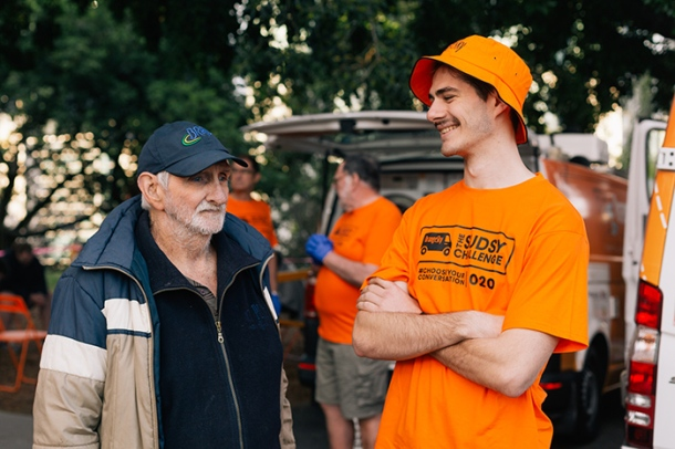 Brisbane Orange Sky volunteer Ollie Wightman