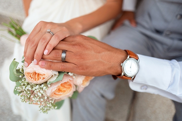 Wedding rings on hands Drew Coffman Unsplash